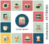 coffee and tea icon set | Shutterstock .eps vector #457789381