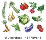 fresh food illustration. good... | Shutterstock . vector #457789645