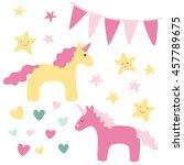 cute unicorns design elements | Shutterstock .eps vector #457789675