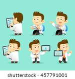 vector illustration    set of... | Shutterstock .eps vector #457791001