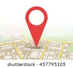 abstract generic city map with... | Shutterstock .eps vector #457795105