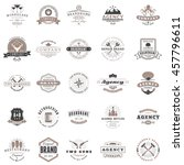 set of vintage retro logotype... | Shutterstock .eps vector #457796611
