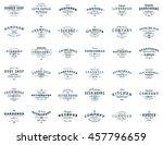 set of vintage retro logotype... | Shutterstock .eps vector #457796659