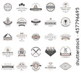 set of vintage retro logotype... | Shutterstock .eps vector #457796695