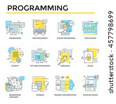 programming concept icons  thin ... | Shutterstock .eps vector #457798699