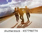 group of friends having fun... | Shutterstock . vector #457798774