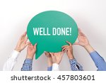 group of people holding the... | Shutterstock . vector #457803601