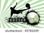 grunge soccer ball background | Shutterstock . vector #45781039