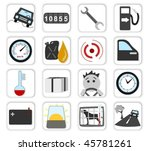 monitoring icons   detail a... | Shutterstock .eps vector #45781261
