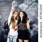 back to school after summer... | Shutterstock . vector #457813345