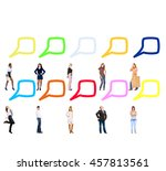 comics concept standing and... | Shutterstock . vector #457813561