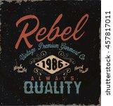 vintage label. typography retro ... | Shutterstock .eps vector #457817011