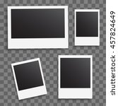 photo frames on a transparent... | Shutterstock .eps vector #457824649