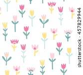 cute flowers seamless pattern | Shutterstock .eps vector #457829944