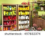 Interior Of Florist Shop With...