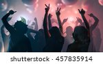 nightlife and disco concept.... | Shutterstock . vector #457835914