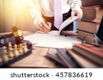 young lawyer business man... | Shutterstock . vector #457836619