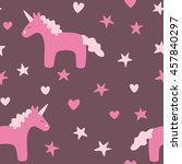 dreamy unicorn seamless pattern | Shutterstock .eps vector #457840297