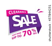 clearance sale purple pink 70... | Shutterstock .eps vector #457844251