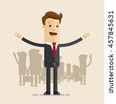 man in suit  businessman or... | Shutterstock .eps vector #457845631