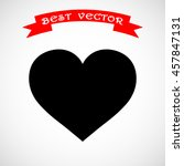 heart sign icon  vector... | Shutterstock .eps vector #457847131