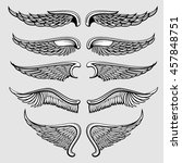 heraldic bird  angel wings... | Shutterstock .eps vector #457848751