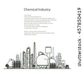 industrial chemical plant  ... | Shutterstock .eps vector #457850419
