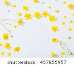 Yellow Buttercups On White...