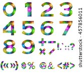 mathematical numbers and set... | Shutterstock . vector #457856011
