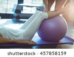 physiotherapist assisting a... | Shutterstock . vector #457858159