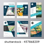 annual report cover layout... | Shutterstock .eps vector #457868209