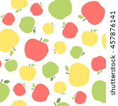 colorful apple seamless pattern ... | Shutterstock .eps vector #457876141