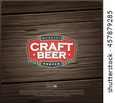 modern professional label logo... | Shutterstock .eps vector #457879285