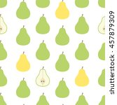 pear seamless pattern on the... | Shutterstock .eps vector #457879309