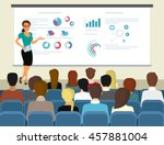 business seminar female speaker ... | Shutterstock .eps vector #457881004