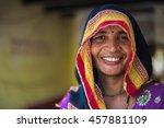 barsana  india   february 28 ... | Shutterstock . vector #457881109