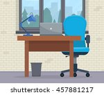 workplace in office. cabinet... | Shutterstock .eps vector #457881217