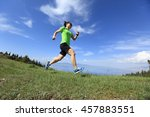 healthy young woman trail... | Shutterstock . vector #457883551
