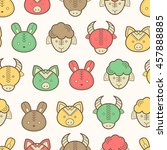 seamless regular pattern with... | Shutterstock . vector #457888885