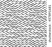 hand drawn zigzag seamless... | Shutterstock .eps vector #457891681