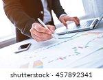 young businessman working  in... | Shutterstock . vector #457892341