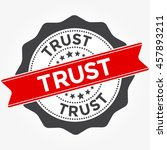 trust stamp vector illustration ... | Shutterstock .eps vector #457893211