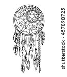 vector hand drawn dreamcatcher... | Shutterstock .eps vector #457898725