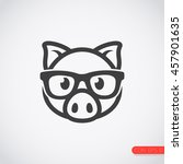 pig with glasses icon. | Shutterstock .eps vector #457901635