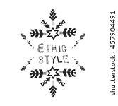 uncommon ethnic vector hand... | Shutterstock .eps vector #457904491