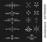 uncommon ethnic vector hand... | Shutterstock .eps vector #457904509