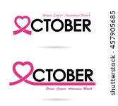 breast cancer awareness logo... | Shutterstock .eps vector #457905685