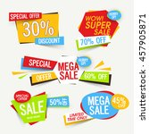 set of creative sale tags ... | Shutterstock .eps vector #457905871