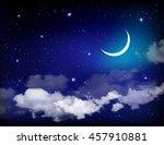 eid mubarak background with... | Shutterstock . vector #457910881