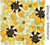 art vintage floral hand drawing ... | Shutterstock . vector #45791608